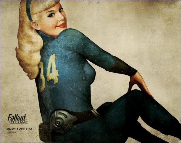 Poster retrofuturístico de Fallout: New Vegas